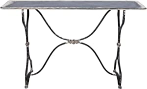 SOFFEE DESIGN Vintage Console Table, Stable and Sturdy Side Table, Casual Narrow End Tables for Home, Living Room, Bedroom, Small Space Decoration, 55 inch
