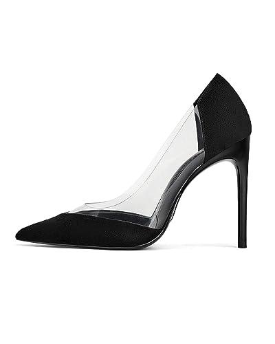f14b449d47e Amazon.com  Zara Women Black Vinyl Heels 2226 001  Shoes