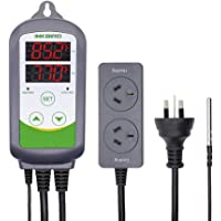 Inkbird ITC-308 Digital Temperature Controller 2 Relays Heat Cool Thermostat Digital for Beer Wine Brewing (ITC-308)