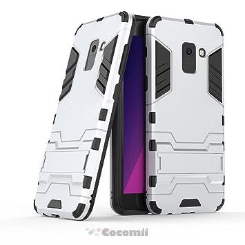 ae0f96b3977 Cocomii Iron Man Armor Galaxy A8 2018 Funda [Robusto] Superior Táctico  Sujeción Soporte Antichoque