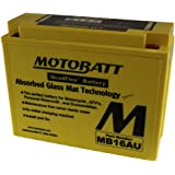 12 Volt 20.5 Ah MotoBatt MB16AU Sealed Maintenance Free AGM Battery