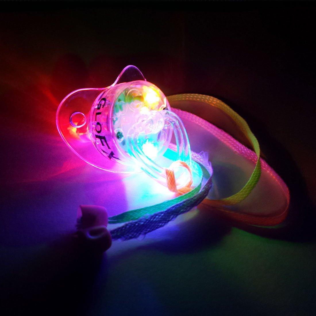 GloFX delirio Chupete de LED se encienden Suave Collar de ...