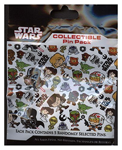 Disney Pin - Star Wars Weekends 2015 Mystery Collectible 5 Pin Pack - 109143