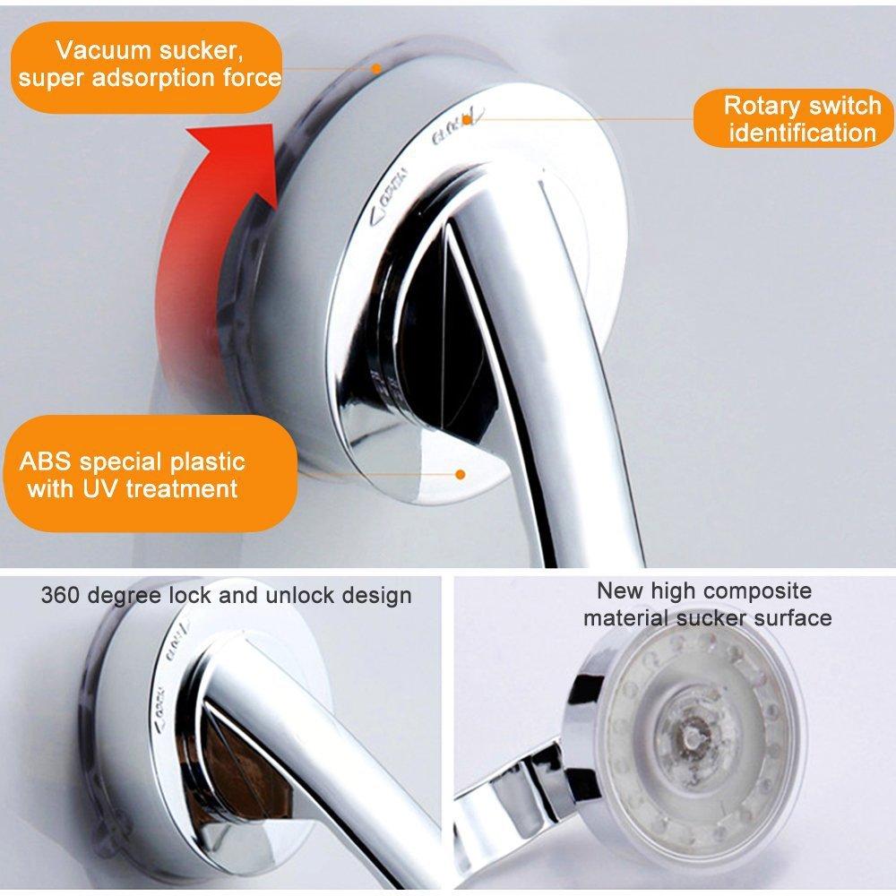 19.6x6.5x4.5cm Support Grip Grab Handle Rail Bar with Suction Cups for Bathroom Door Cabinet Door Super Power Suction Cup Door Handle