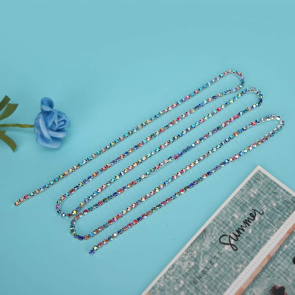 Colore AB diamante 2 fondo argento Accessori per la decorazione della catena di artigli della catena di chiusura a strass in cristallo strass strass artificiali