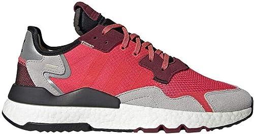 Amazon.com: adidas Nite Jogger Zapatos Hombre Rojo, Talla ...