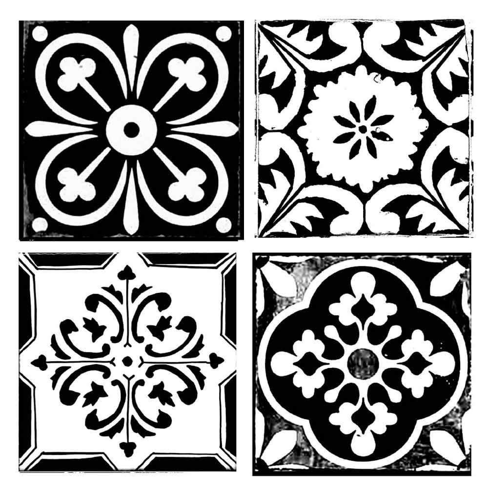 Stamperia Intl KSTDQ09 Stamperia Stencil 7.08X7.08 Tile