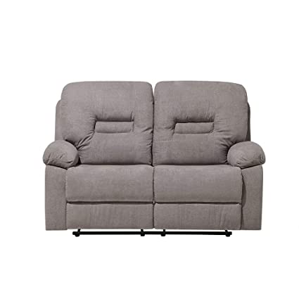 Amazon.com: Modern Fabric Recliner Sofa Manual Reclining Padded 2 ...