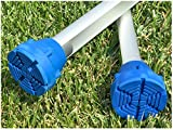 SureTip Blue Crutch Tips & Cane Tip for Crutches (Pair of 2) - Extreme Grip - Heavy Duty Universal Sizing Fits Shafts of 5/8'' 3/4'' 7/8'' 1'' & More