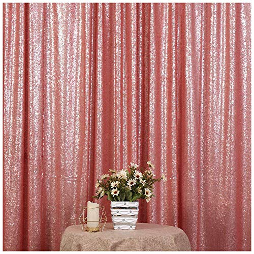 Poise3EHome 5FT x 7FT Sequin Photography Backdrop Curtain for Party Decoration, Blush ()