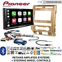 Volunteer Audio Pioneer AVH-W4400NEX Double Din Radio Install Kit with Wireless Apple CarPlay, Android Auto, Bluetooth Fits 2009-2010 Ford F-150 (Ash Satin)