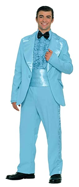 70s Costumes: Disco Costumes, Hippie Outfits Prom King Powder Blue Tux 1970s Prom Costume Tux 61697 $47.88 AT vintagedancer.com