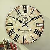 Decoration European fashion retro quartz clocks wall clocks Office clocks wall charts simple living room ideas table diameter 34/40/50/60cm,D,24 inch