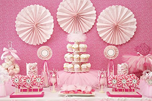 - Baocicco Vinyl Happy Birthday Backdrop 10x8ft Paper Flowers Birthday Dessert Table Decoration Backdrop Baby Girls Sweet Pink Photography Background Cake Smash Cupcakes Lollipops