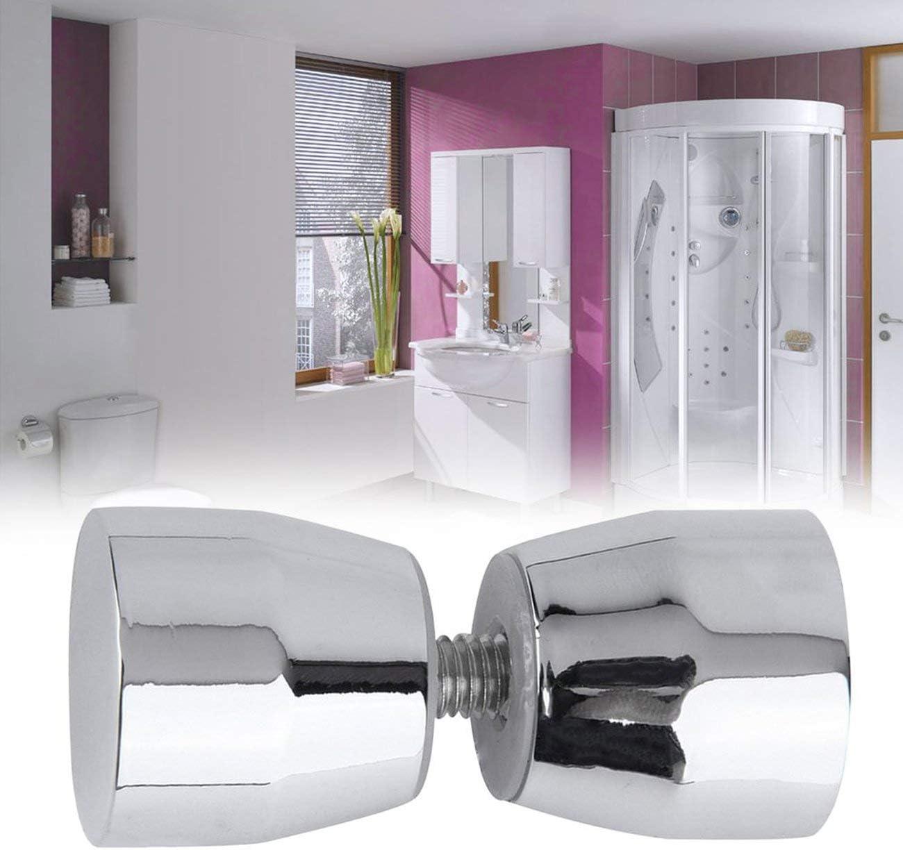 JIUY Duscht/ür-Griff verchromt silberfarben kegelf/örmig elegante Dekoration f/ür Zuhause Badezimmer