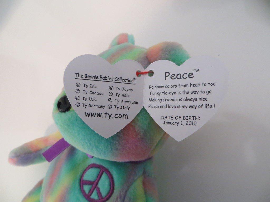 819744c6a05 Amazon.com  TY Tie Dye Beanie Baby PEACE BEAR  Toys   Games