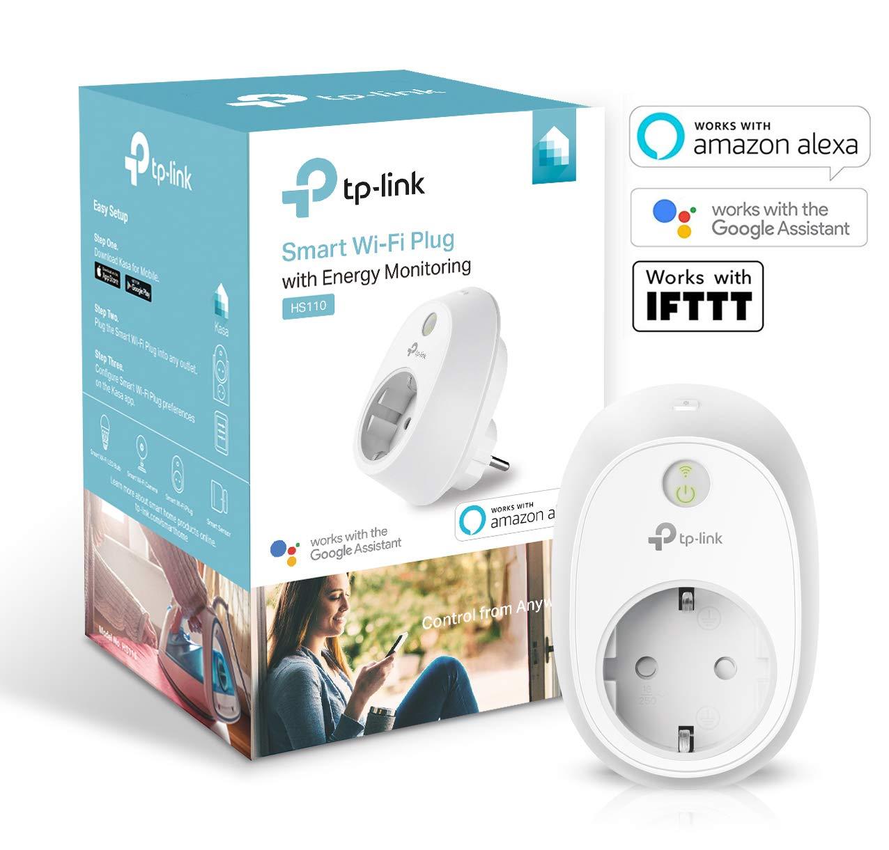 TP-LINK HS110 - Enchufe Inteligente inalámbrico con monitorización de energía,...