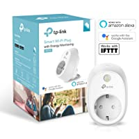 TP-Link WLAN Steckdose mit Stromverbrauchsaufzeichnung funktionieren mit Amazon Alexa (Echo und Echo Dot), Google Home und IFTTT, Kein Hub erforderlich, Steuern Sie Ihre Geräte von überall aus