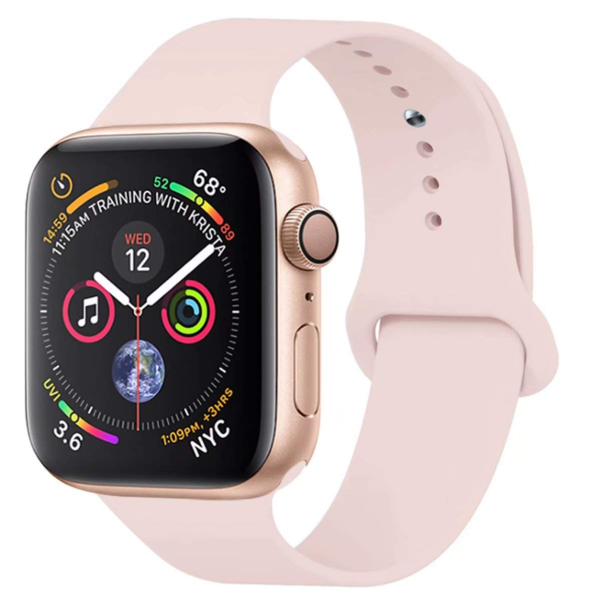 Malla De Silicona Rosa Para Apple Watch 38mm/40mm