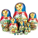 Miniature Troika Nesting Dolls Set of 10pcs Matryoshka Dolls
