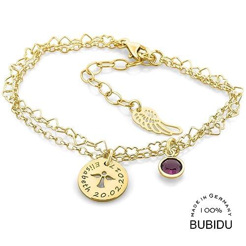 Taufarmband Gold 925 Silber Mädchen Armband Mit Engel