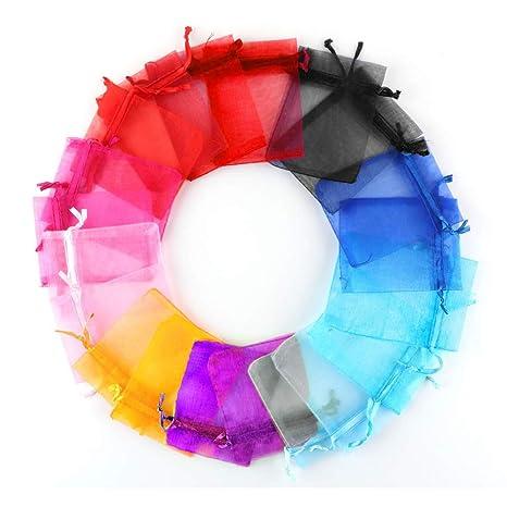 TtS 200Mix 20x30cm Bolsas de Organza Bolsas Regalo Lujo Joyas Fiesta Boda Candy Favor Decoración (Mix Colorful)