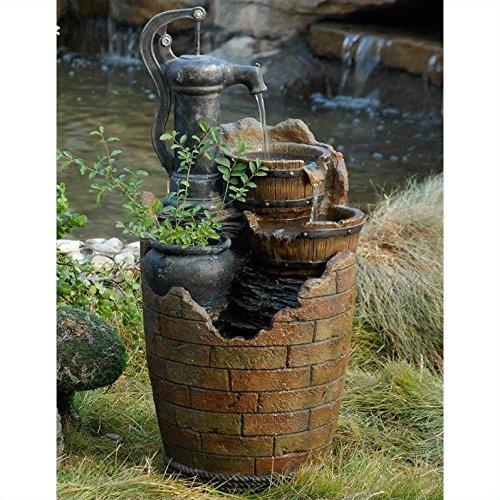 Glenville Water Pump Cascading Water Fountain from Jeco