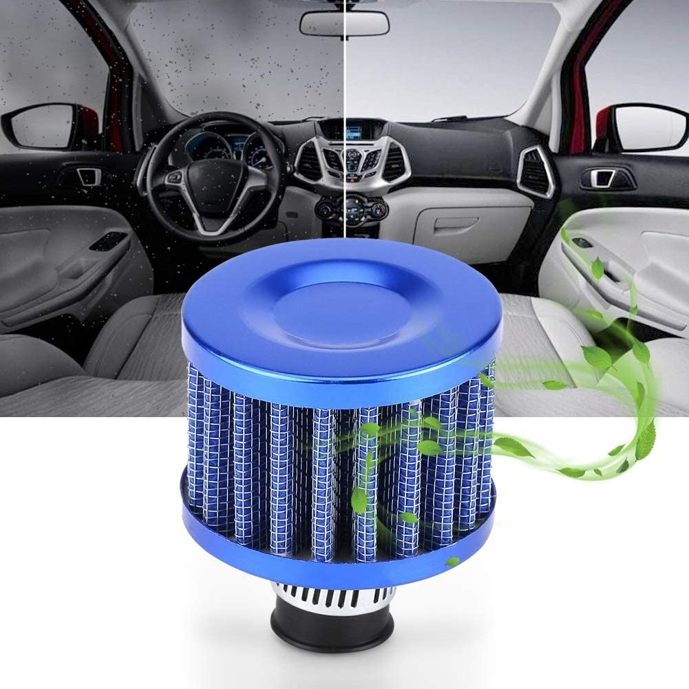 Color : Blue Breather Filter Universal Car Cold Air Intake Breather Filter for Crankcase Vent 13mm 3 Colors Car Air Filter