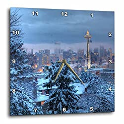 3dRose DPP_96258_1 Seattle, Kerry Park, Space Needle-US48 JWI2641-Jamie and Judy Wild-Wall Clock, 10 by 10-Inch