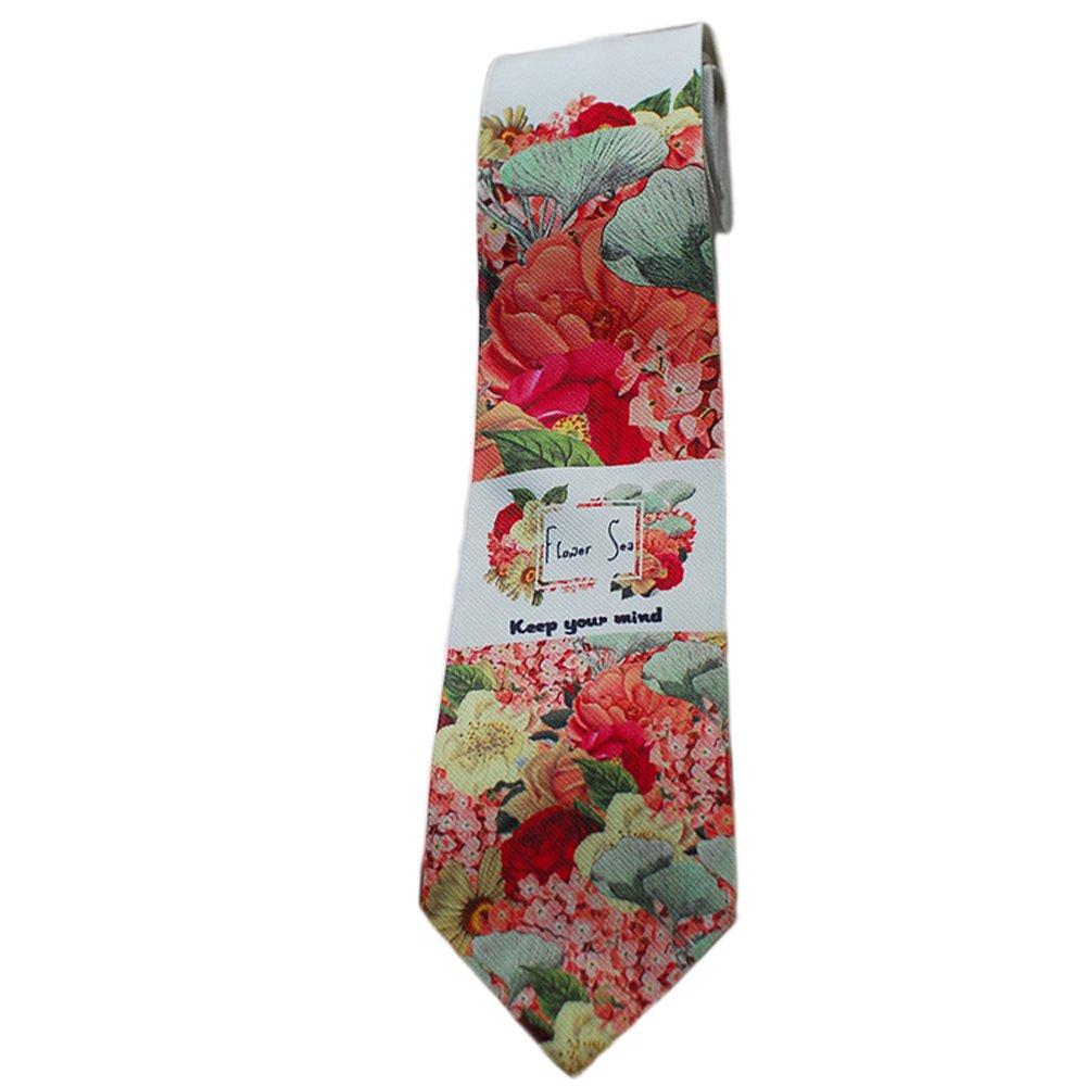 El Diseo De Casa Amor Flores Estampados Textiles Corbata: Amazon ...