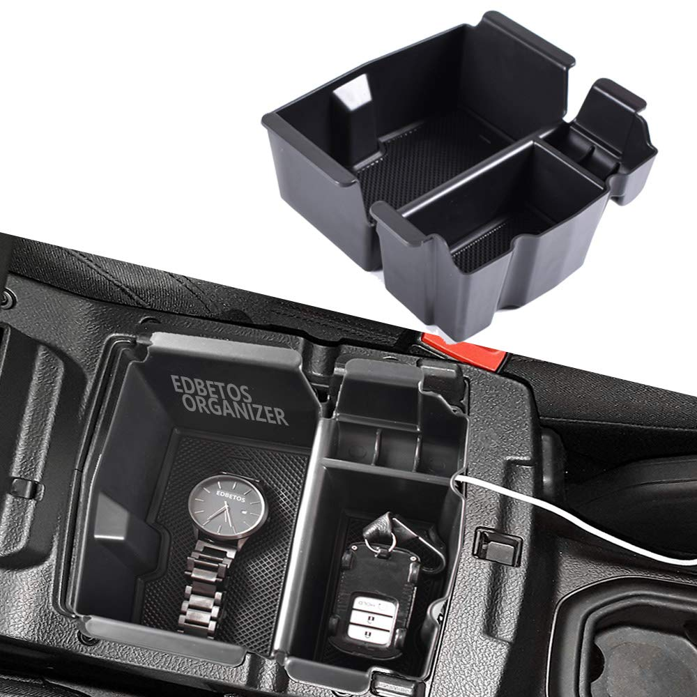 EDBETOS Center Console Organizer Tray for Jeep Wrangler JL JLU 2018-2019, Jeep Gladiator JT Truck (2020) Armrest Storage Glove Box - Jeep Rubicon Sport Sahara Moab Gladiator Accessories by EDBETOS