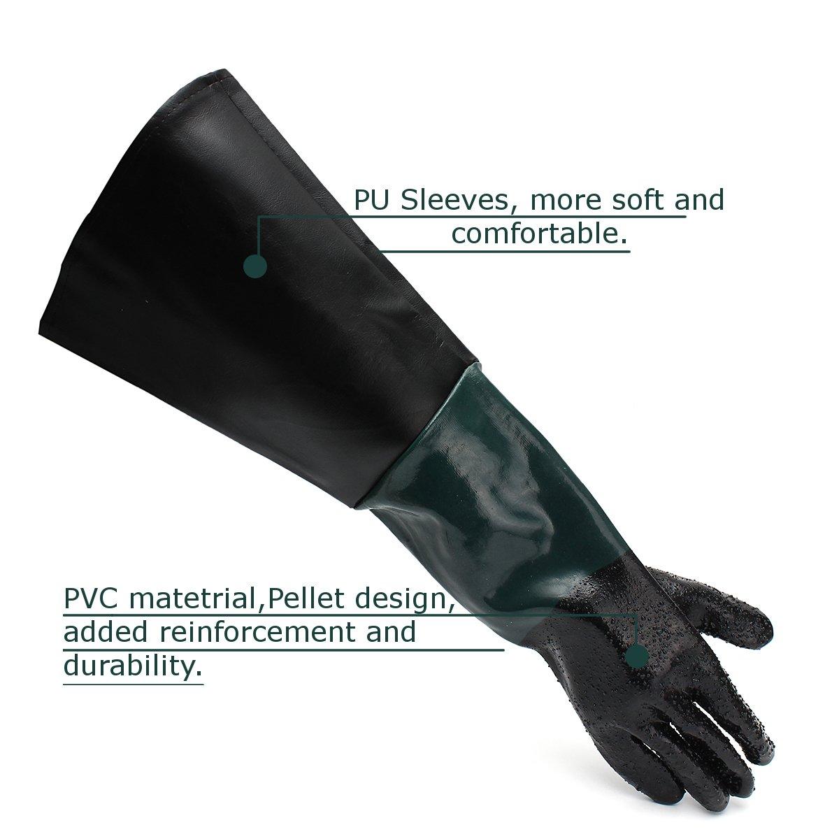 Jewboer 23 6 Quot Rubber Sandblasting Sandblaster Gloves For