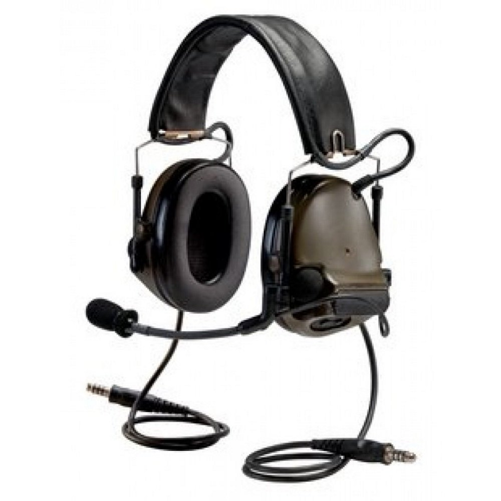 3M PELTOR COMTAC 93630 PELTORCOMTACIII MT17H682FB-19 ACH Communication Headset GNH, Dual Comm, 20'' Straight Dual Download, 4.75'' Height, 7.88'' Length, 5.63'' Width, O.D Green