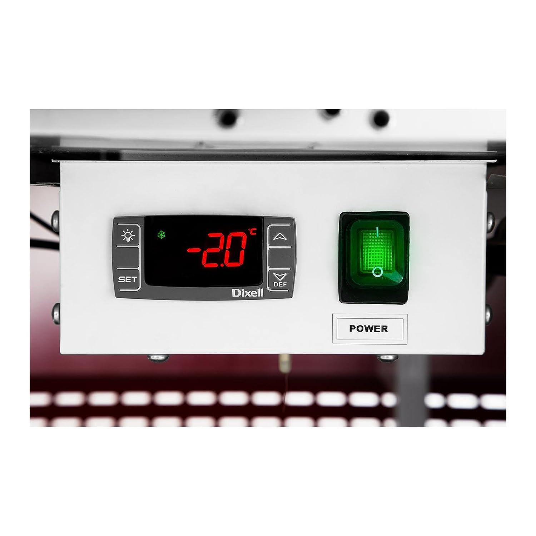 Royal Catering Vitrina Refrigerada RCKV-AMS (470 L, 690 W, Vidrio templado, Iluminación LED, Refrigerante R290, Cámara de almacenamiento) Rojo: Amazon.es: Industria, empresas y ciencia