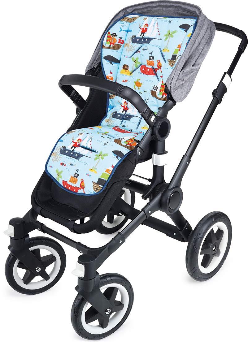 beidseitig verwendbar PRIEBES LOTTE Sitzauflage Sitzeinlage f/ür Kinderwagen und Buggy Schonbezug 100/% Baumwolle Design:rotk/äpchen atmungsaktiv