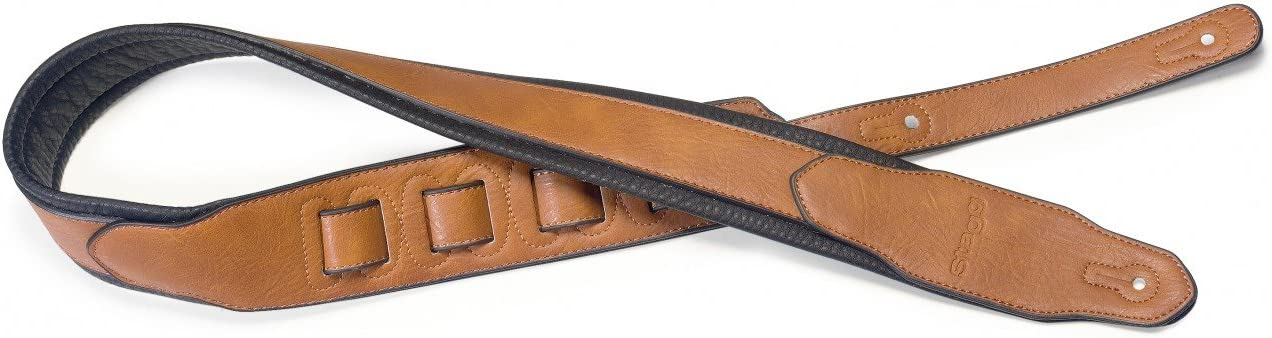 Honey Stagg SPFL 40 HON Padded Leather Style Guitar Strap
