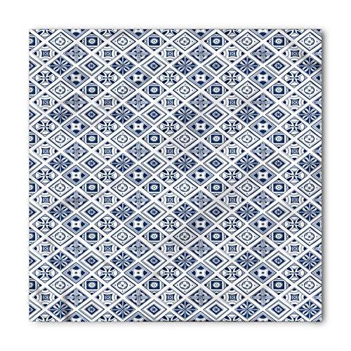Ambesonne Unisex Bandana, Navy Blue Spanish Traditional, White Cobalt