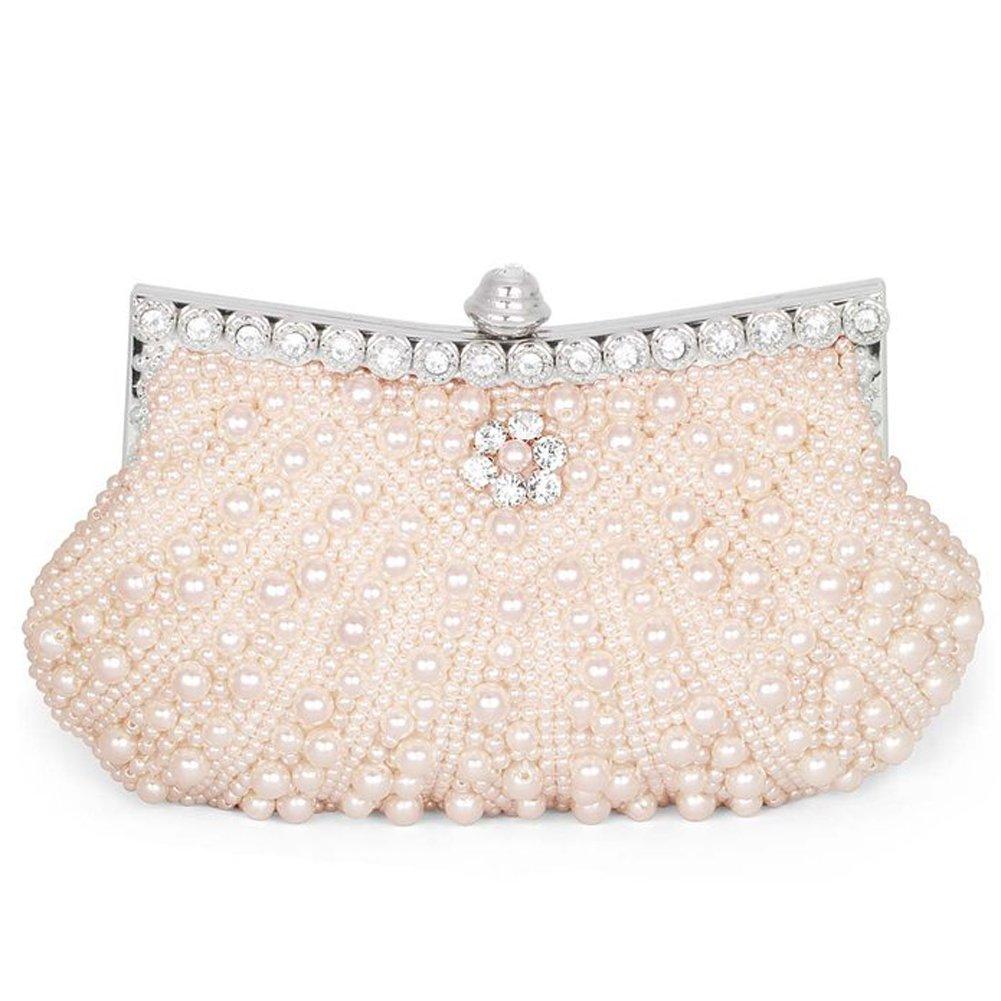 B-JOY Elegant Handgemacht Mehrfarbig Perlen Beaded Clutch Brauttasche Unterarmtasche Party Abendtasche