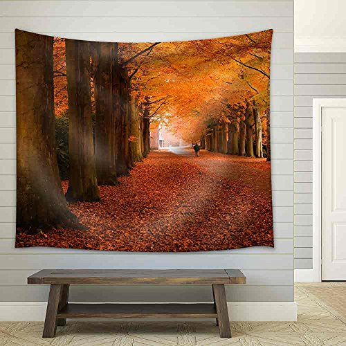 Autumn Colors in the Forest Fabric Wall Tapestry
