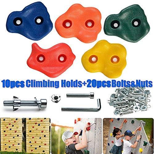 10 unidades Juego de 10 piezas para escalada de madera para ni/ños y ni/ñas Scucs
