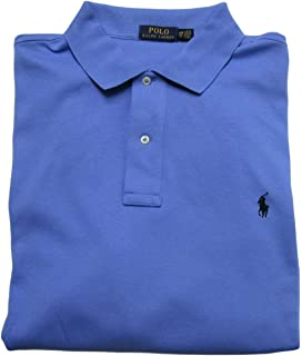 0d0977d7 Ralph Lauren Men's Big and Tall Interlock Polo Shirt, Pony Logo, Classic Fit