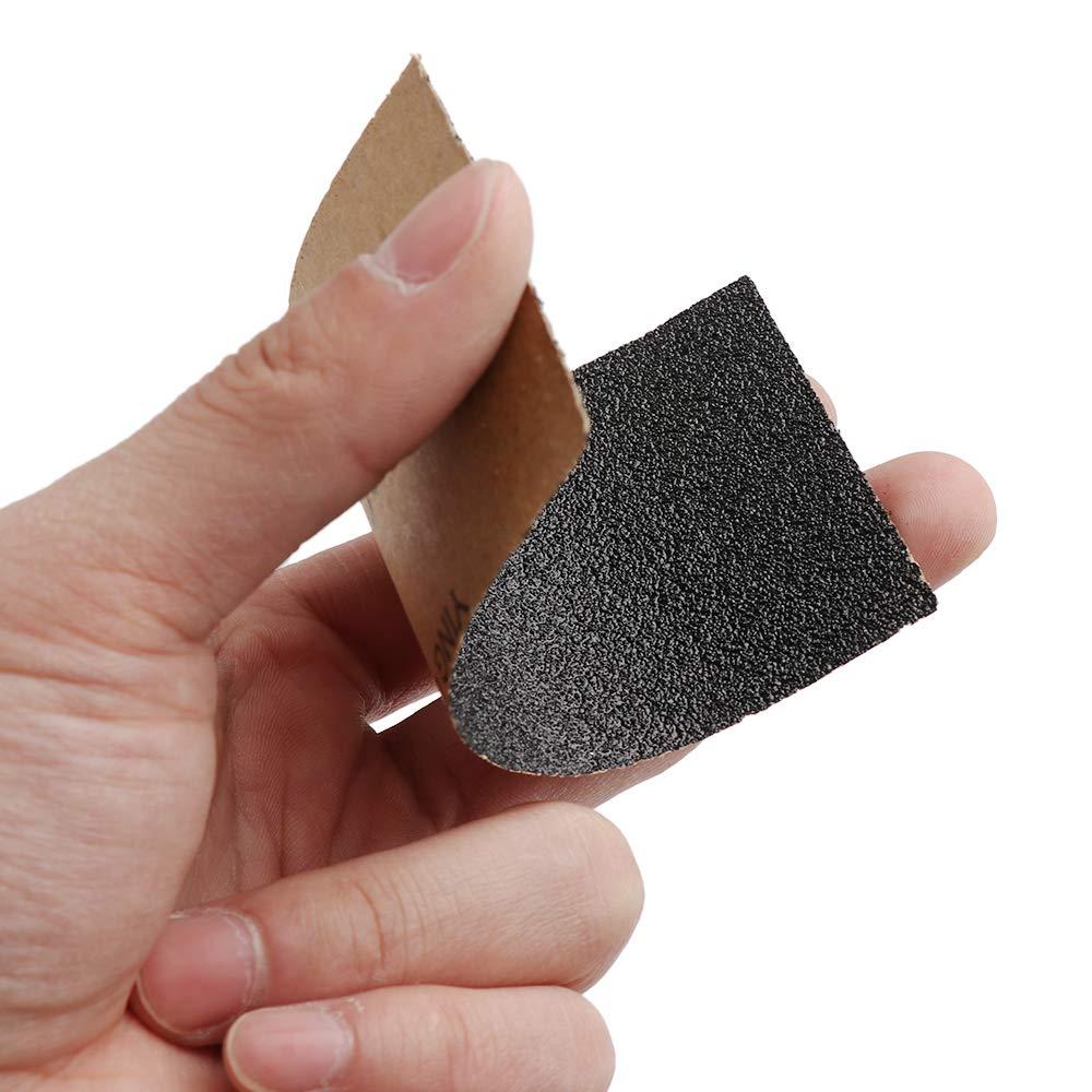 56mm Lijas abrasivas Papel de la arena Herramienta de desbaste Papel de lija Grit 600 5pcs Xuntung 5//10//20Sheets De alta calidad Silicona Impermeable 115