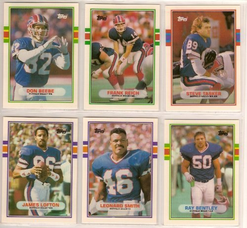 Buffalo Bills 1989 Topps Traded Football Team Set (Don Beebe Rookie) (Steve Tasker Rookie) (Frank Reich Rookie)