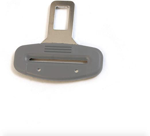 Click Your END-Ding Into The Seatbelt Receptacle /& Drive Peacefully in Quiet Car Seat Belt Metal Tongue 1, Gray