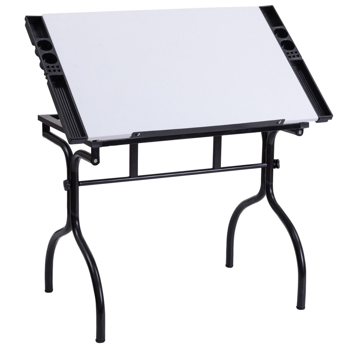 COLIBROX--Drafting Table Drawing Desk Adjustable Folding Craft Station Art Hobby White New. best professional drafting table. standing drafting table amazon. drafting table with parallel bar.