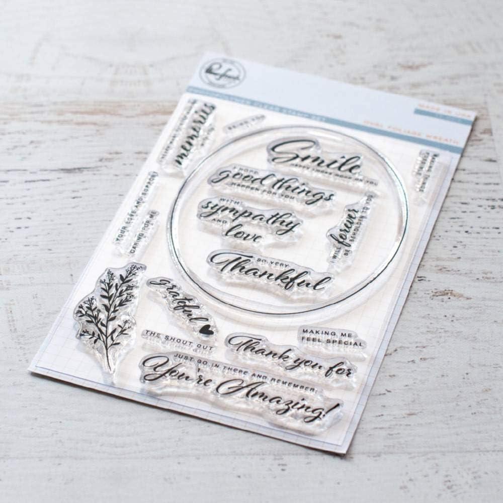 Pinkfresh Studio Clear Stamp Set 4X6-Oval Foliage