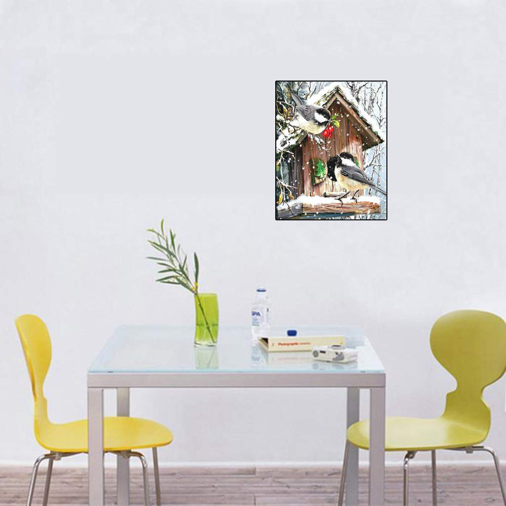 GHTGHTS Bird Nest Frameless DIY Digital Oil Painting By Numbers Canvas Modern Wall Art