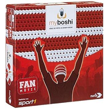 Noris Spiele 606311346 My Boshi Fan Mütze In Den Vereinsfarben Rot