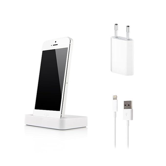Original MyCase24 base de carga para el iPhone 5 en blanco con 8 ...