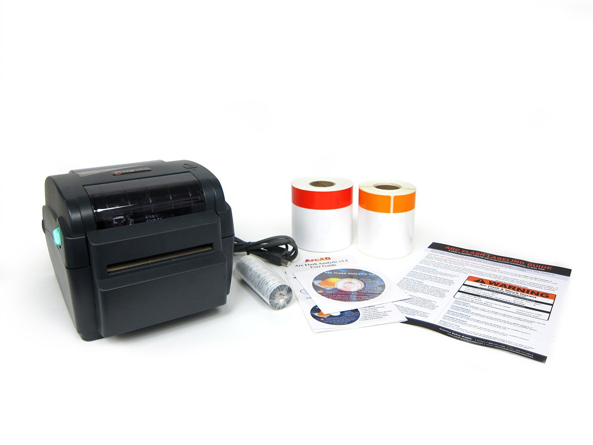 Amazon com arc flash label printer starter package labeltac nfpa 70e labels and sticker maker office products